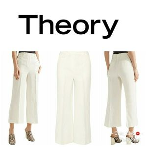 🆕🔥Theory Nadeema pleated linen wide-leg pants